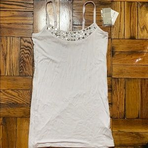 NWT Mac & Jac white sequins tank top size: S